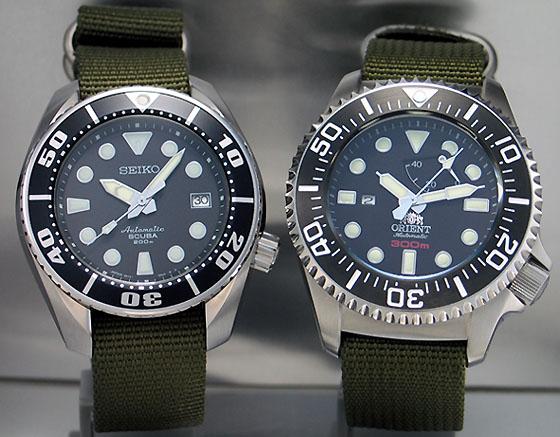 Orient 300m CFD0C001B and Seiko 200m SBDC001 (1/6)
