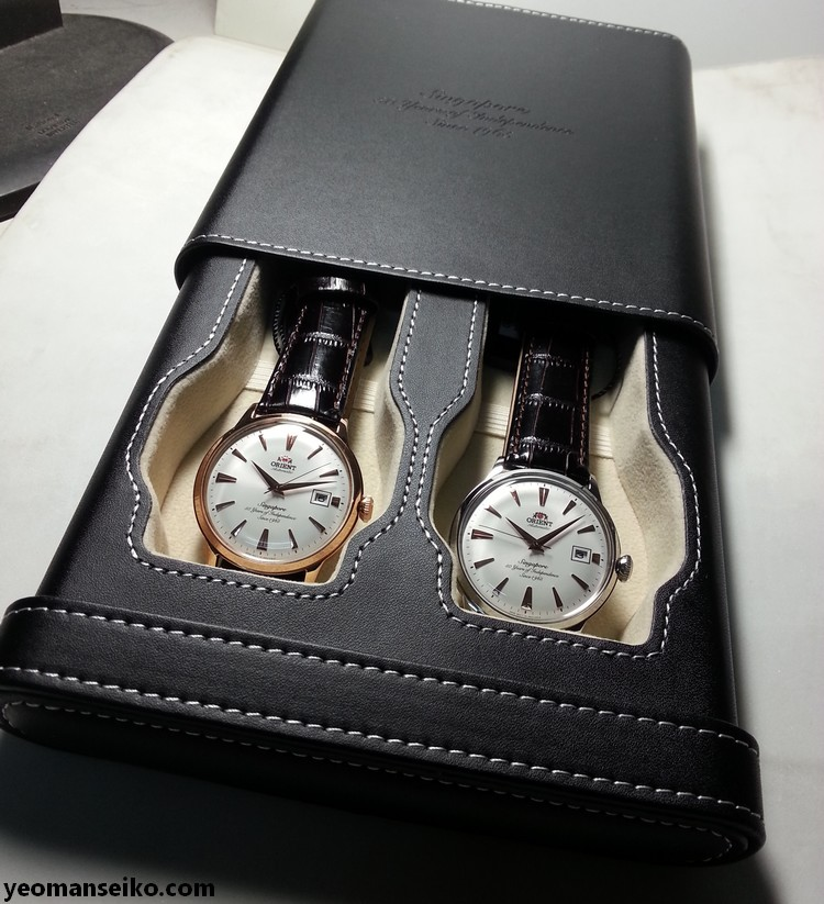 A Pair of SG50 Limited Edition Orient Bambinos by Big Time (1/6)